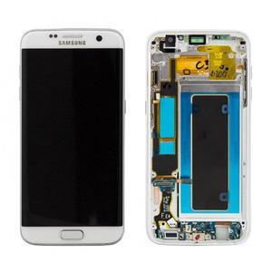 Original οθόνη LCD & Digitizer για Samsung Galaxy S7 Edge SM-G935 White (GH97-18533D)