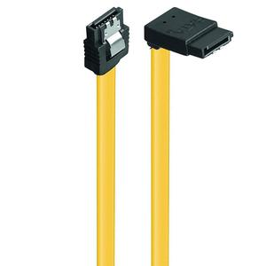Καλώδιο Powertech SATA III 7-Pin to 7-Pin 90° Yellow 0,5m (CAB-W028)