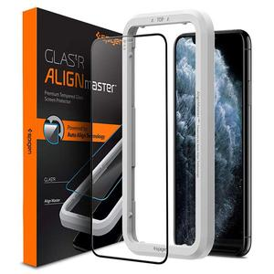 Tempered Glass Spigen® GLAS.tR ALIGNmaster Full Cover - iPhone 11 Pro Max/XS Max (AGL00098)