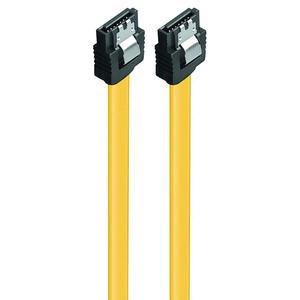 Καλώδιο Powertech SATA III 7-Pin to 7-Pin Yellow 0,5m (CAB-W024)