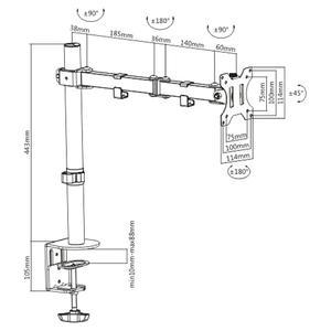 Βάση Monitor Brateck LDT12-C012N