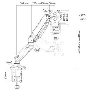 Βάση Monitor Brateck LDT13-C012
