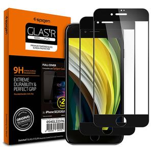 Tempered Glass Spigen® GLAS.tR Slim Full Cover Black (x2) - iPhone 7/8/SE 2020 (AGL01315)