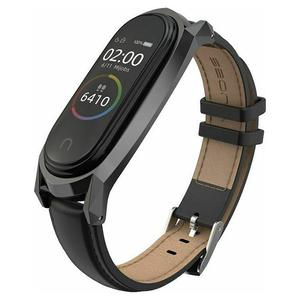 Tech-Protect Herms Leather Band Black - Xiaomi Mi Band 5