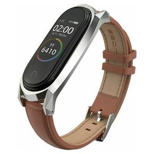 Tech-Protect Herms Leather Band Brown - Xiaomi Mi Band 5