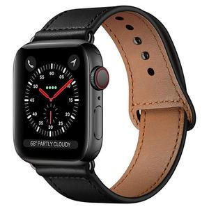 Tech-Protect LeatherFit Black - Apple Watch 42/44mm