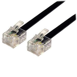 Καλώδιο Powertech Τηλεφώνου 6P4C Black 2m (CAB-T008)