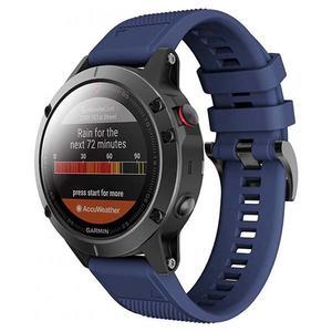 Tech-Protect Sport Smooth Band Navy Blue - Garmin Fenix (22mm)